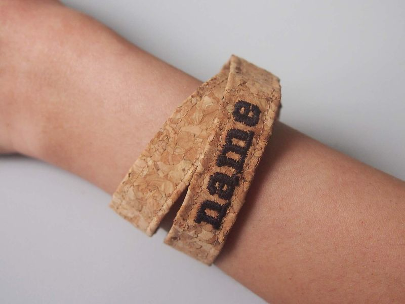 Paralife Personalized YOUR NAME's  Cork Bracelet - product images  of