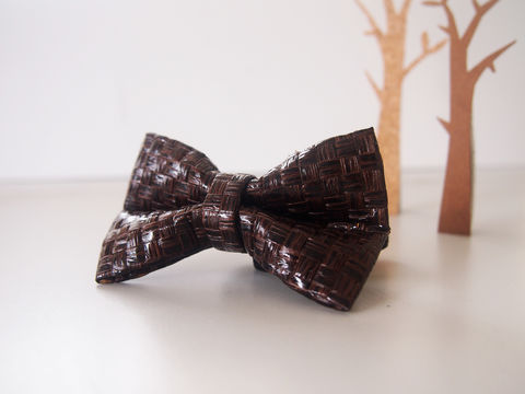 Dark,Brown,Grass,Woven,Mens,Bowtie,Bow tie