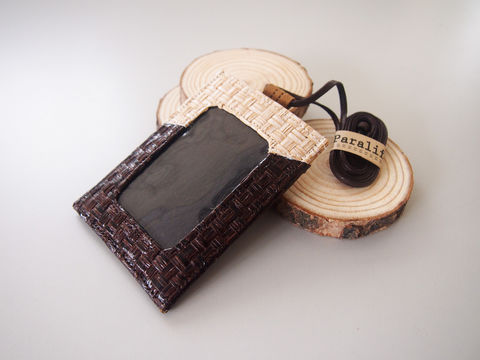 Mixed,Cork,&,Grass,Woven,Badge,Holder,with,Lanyard,Badge Holder