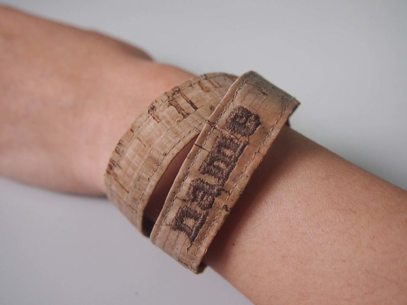 Name Cork Ribbon Bracelet  - product images  of