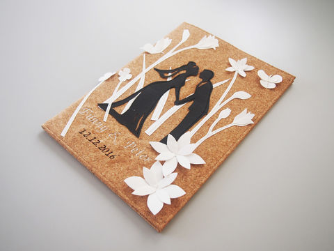 Cork,Wedding,Certificate,Folder,(White,Flowers,Background)