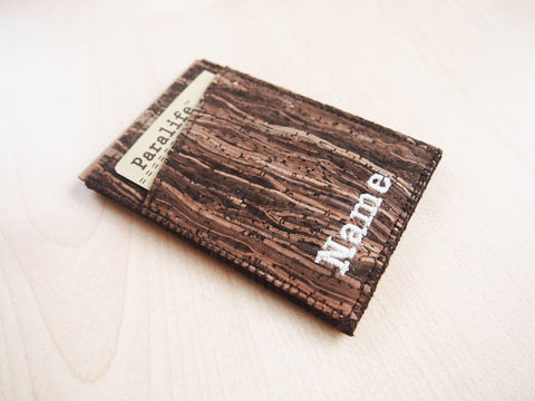 Wooden,Grain,Cork,Card,Wallet