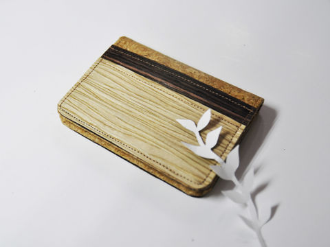 Personalized,Name,Mixed,Wooden,Cork,Wood,Card,Holder,Wallet,Case,Badge,Pouch,Pouches,Bifold,Clutch,Purse