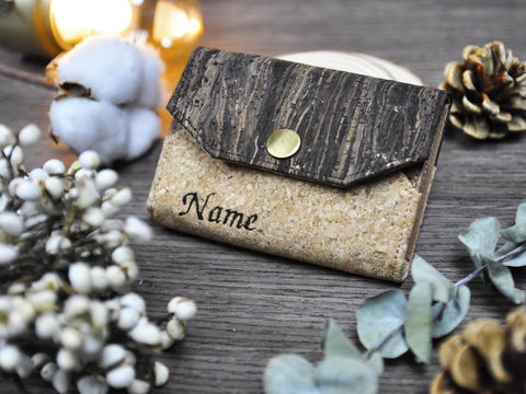 Personalized,Name,Mixed,Cork,ID,card,holder,coin,case