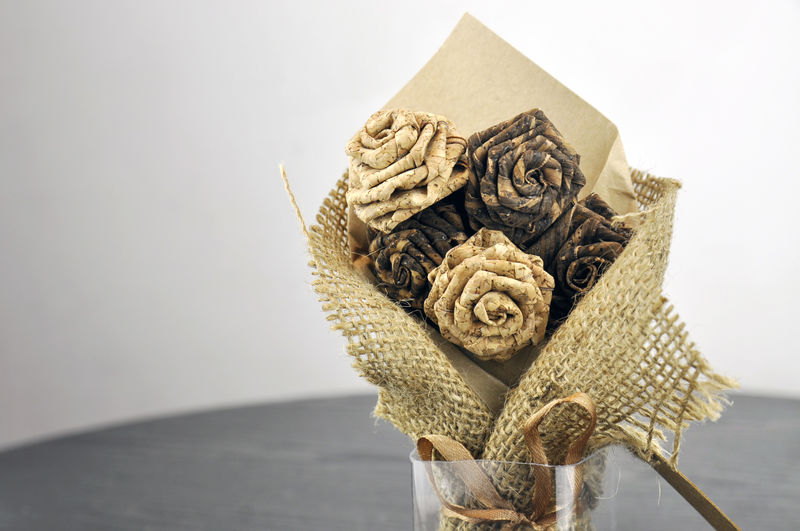Cork Rose Flower Bouquet Hair Band Hair Tie - product images  of
