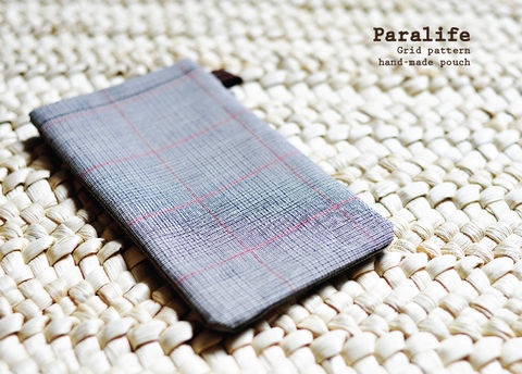 Grid,pattern,(Grey),Phone,Sleeve