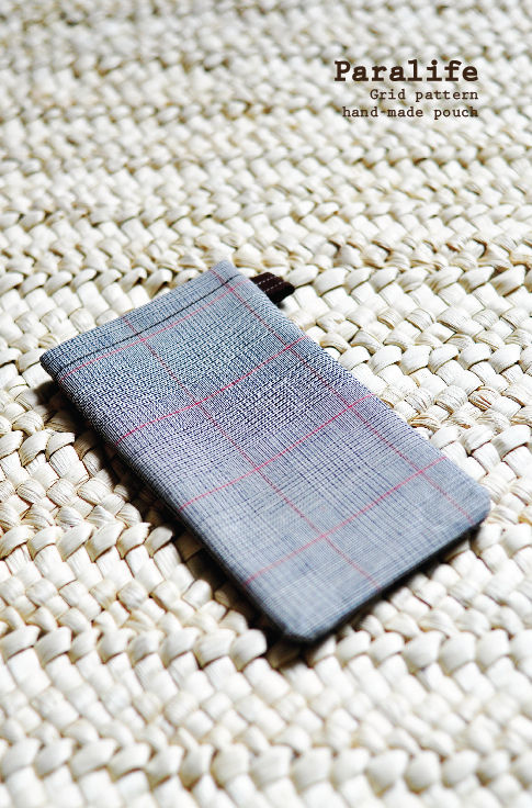 Grid pattern (Grey) Phone Sleeve - product images  of