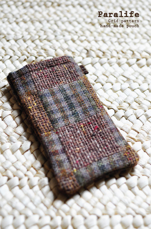 Grid pattern (Brown) Phone Sleeve - product images  of
