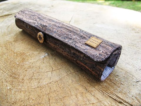 Wooden,grain,cork,pencil,pouch,(custom,made,size)