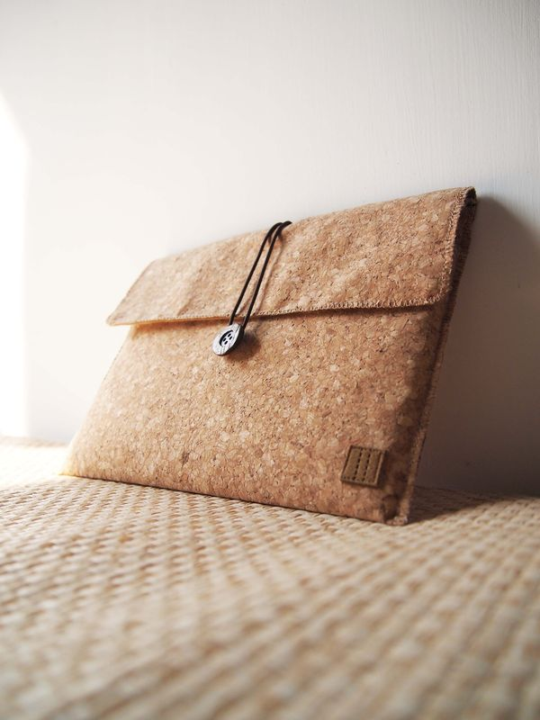 "Cork computer / tablet bag  (custom made for any model between 6""- 8"") - product images  of"