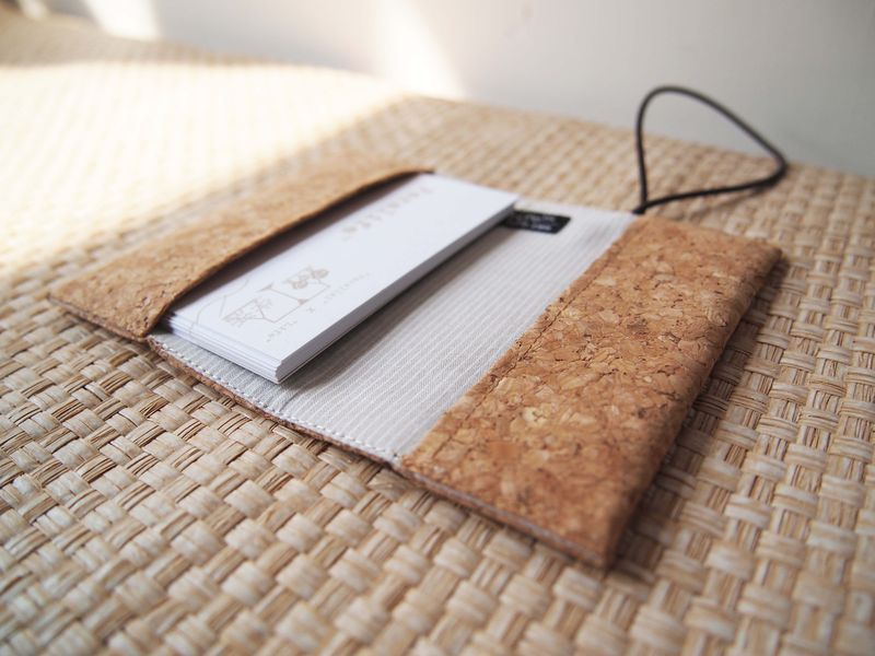 Cork card holder ( with elastic ) (custom made size) - product images  of