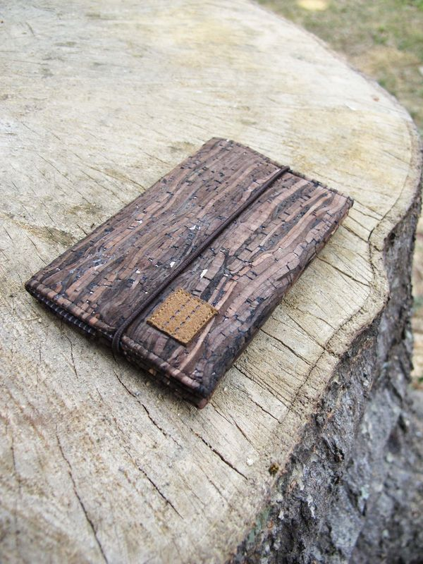 Wooden grain cork card holder ( with elastic ) (custom made size) - product images  of