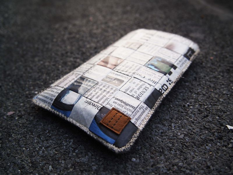 Newspaper phone sleeve (custom made for any model) - product images  of