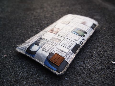Newspaper,phone,sleeve,(custom,made,for,any,model)
