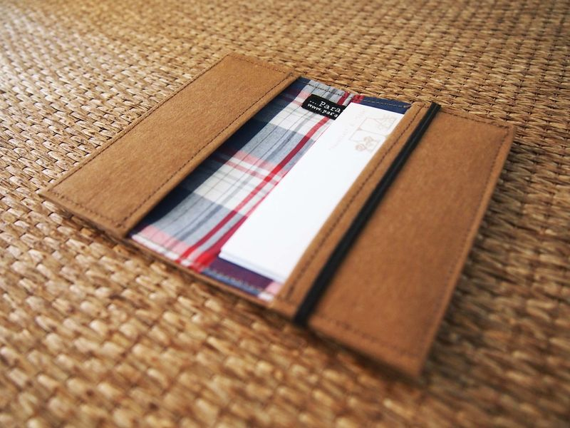 Denim tag paper card holder - product images  of