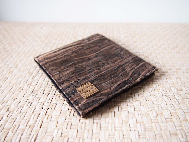 Wooden grain cork wallet - product images  of