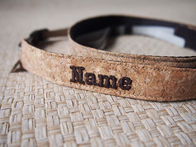 Cork camera strap (2cm)(Add on Embroidery Name) - product images  of