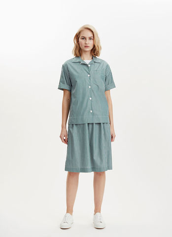 Libertine-Libertine,Planet,Shirt,Green/White,Libertine-Libertine Planet Shirt Green/White