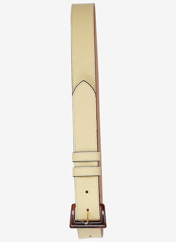 Baum,und,Pferdgarten,Latonia,Leather,Belt,in,Dusky,Citron,Baum und Pferdgarten Latonia Leather Belt in Dusky Citron