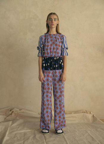 Libertine,Tron,Trousers,-,Cornflower,Blue,Libertine Libertine Tron Trousers - Cornflower Blue