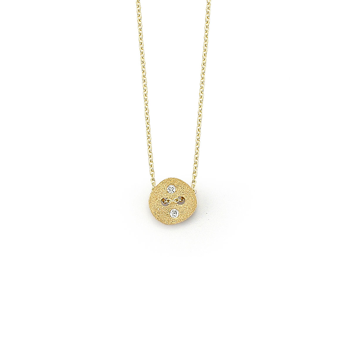 Diamond Button Necklace - product images  of