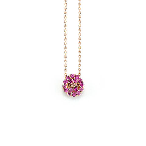 Pink,Button,Necklace,button, necklace, pink, sapphire