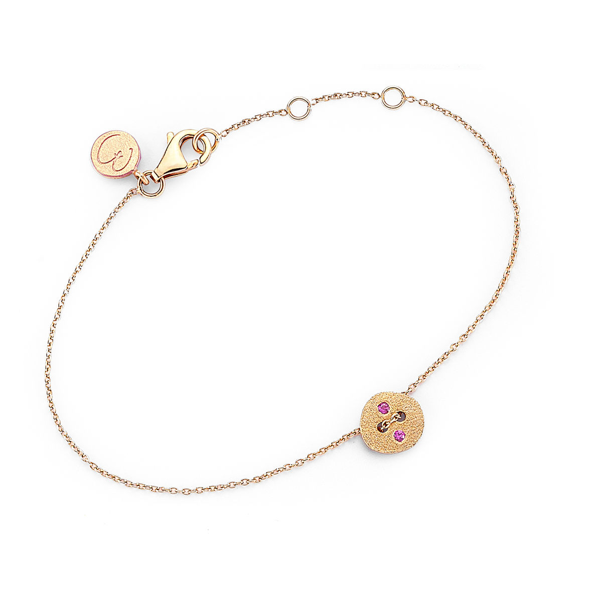 Pink Button Bracelet - product image