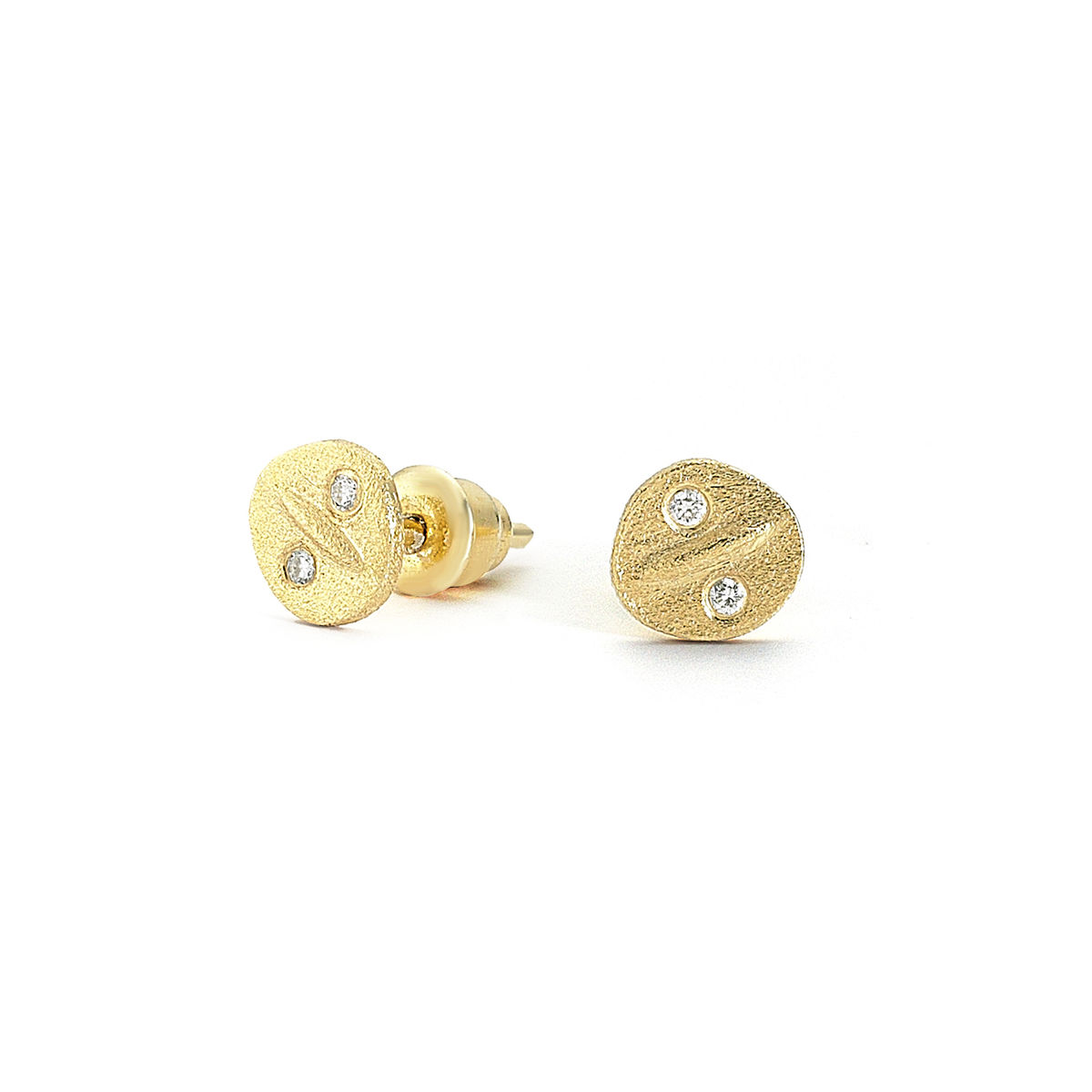 Button Diamond Earrings - product image