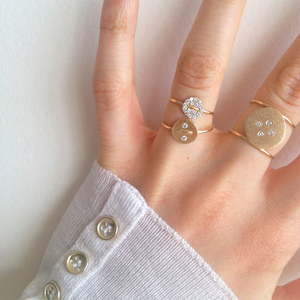 Diamond Button Ring - product images  of