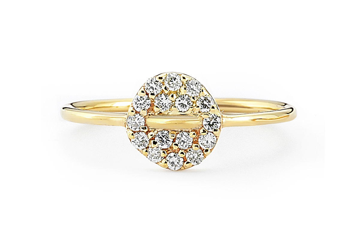 Button Diamond Ring - product images  of