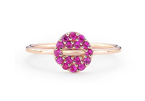 Pink,Button,Ring,button ring, pink sapphire