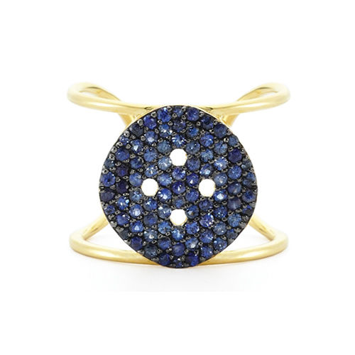 XL Blue Button Ring - product images  of