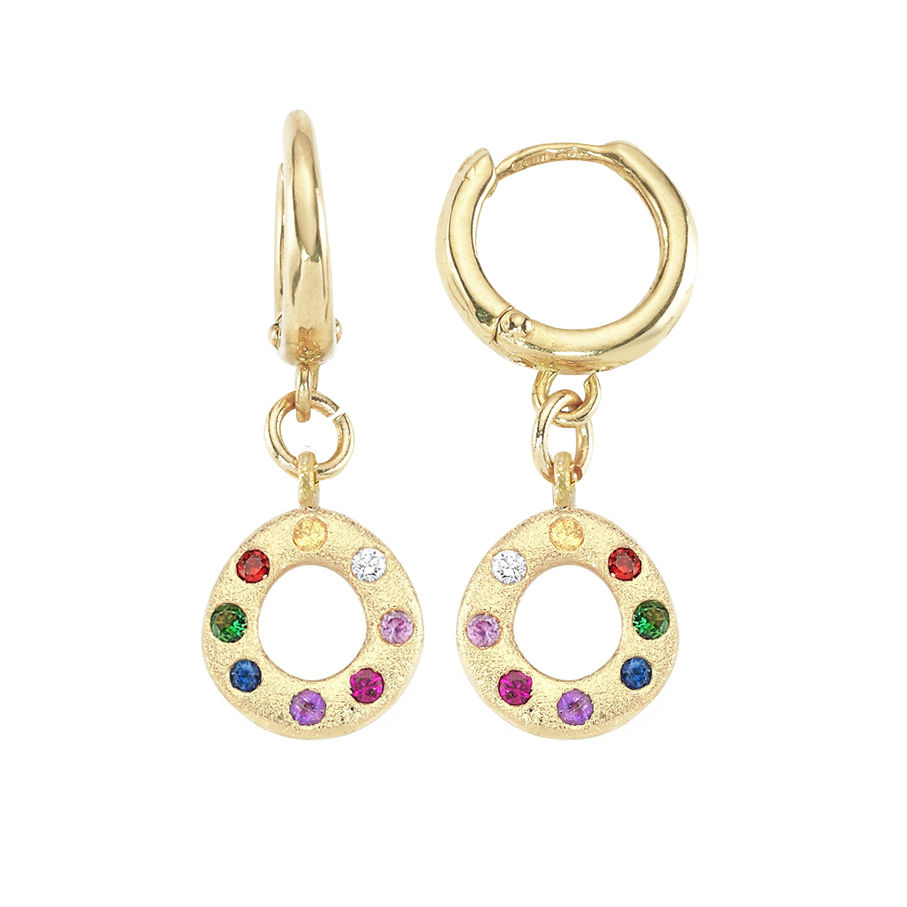 Oval Rainbow Earrings - product image