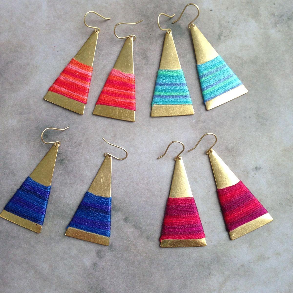 Triangle Ombre Earrings