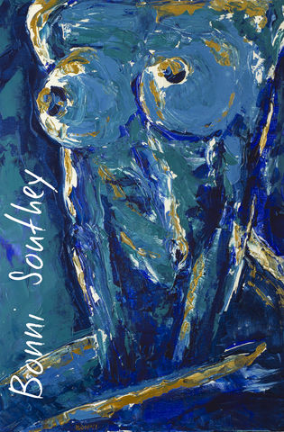 Blue,Nude,Bonni Southey, Healing art, psychic art, meditative art, intuitive art, colour therapy, theta healing art, angel art, limited edition prints, acrylic painting, art therapy, colour meaning, symbolism, heart art, whimsical heart, irreverent