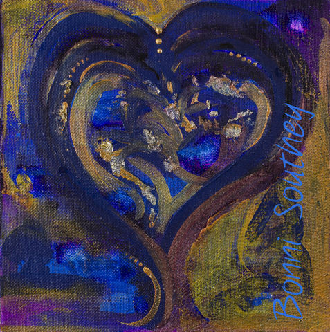 Jewel,Heart,Bonni Southey, Healing art, psychic art, meditative art, intuitive art, colour therapy, theta healing art, angel art, limited edition prints, acrylic painting, art therapy, colour meaning, symbolism, heart art, whimsical heart, irreverent