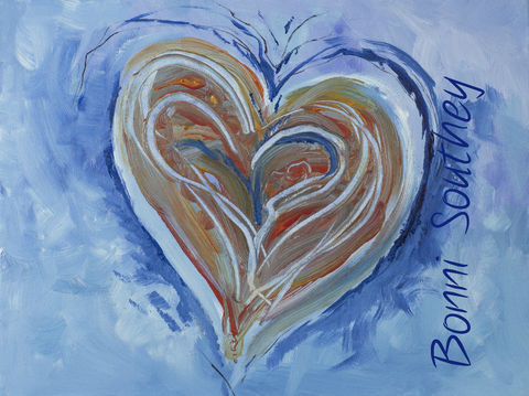 Soulscapes,Heart,Bonni Southey, Healing art, psychic art, meditative art, intuitive art, colour therapy, theta healing art, angel art, limited edition prints, acrylic painting, art therapy, colour meaning, symbolism, heart art, whimsical heart, irreverent
