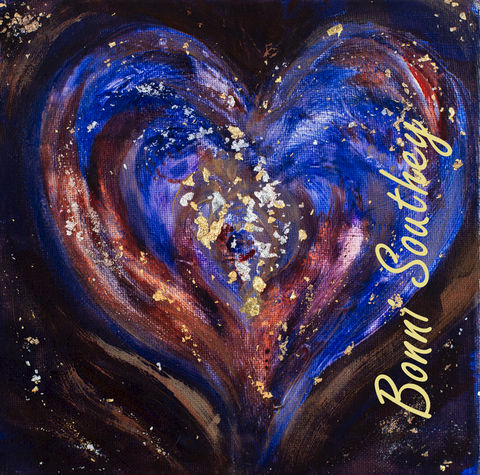 Cosmic,Heart,Bonni Southey, Healing art, psychic art, meditative art, intuitive art, colour therapy, theta healing art, angel art, limited edition prints, acrylic painting, art therapy, colour meaning, symbolism, heart art, whimsical heart, irreverent