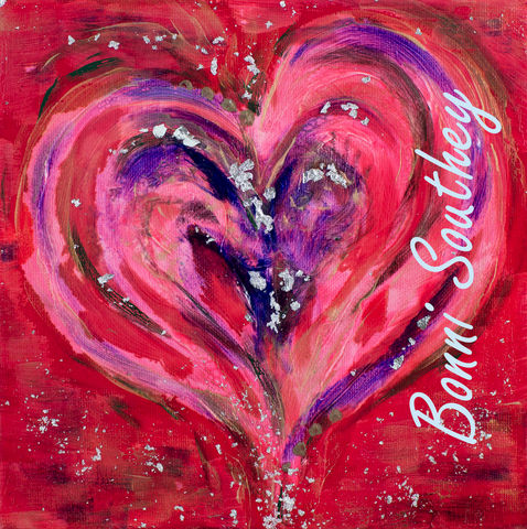 Effervescent,Heart,Bonni Southey, Healing art, psychic art, meditative art, intuitive art, colour therapy, theta healing art, angel art, limited edition prints, acrylic painting, art therapy, colour meaning, symbolism, heart art, whimsical heart, irreverent
