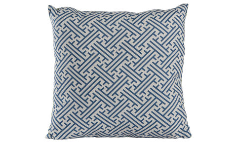 Bhutan,Lattice,Cornflower,Blue,Cushion,Cover,18