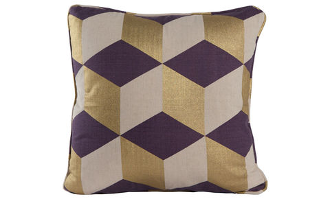 Cubes,Indigo,Cushion,Cover,18