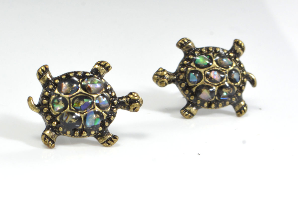 pinterest ideas turtle larger view asos on stud about l earrings silver nikajewellery