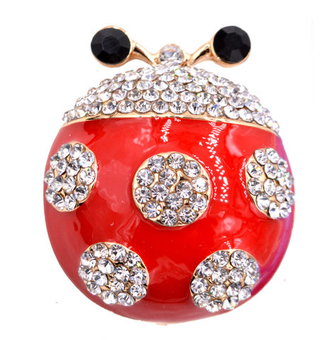 Intricate,Ladybird,Ladybug,Brooch,Pin,with,Enamel,and,
