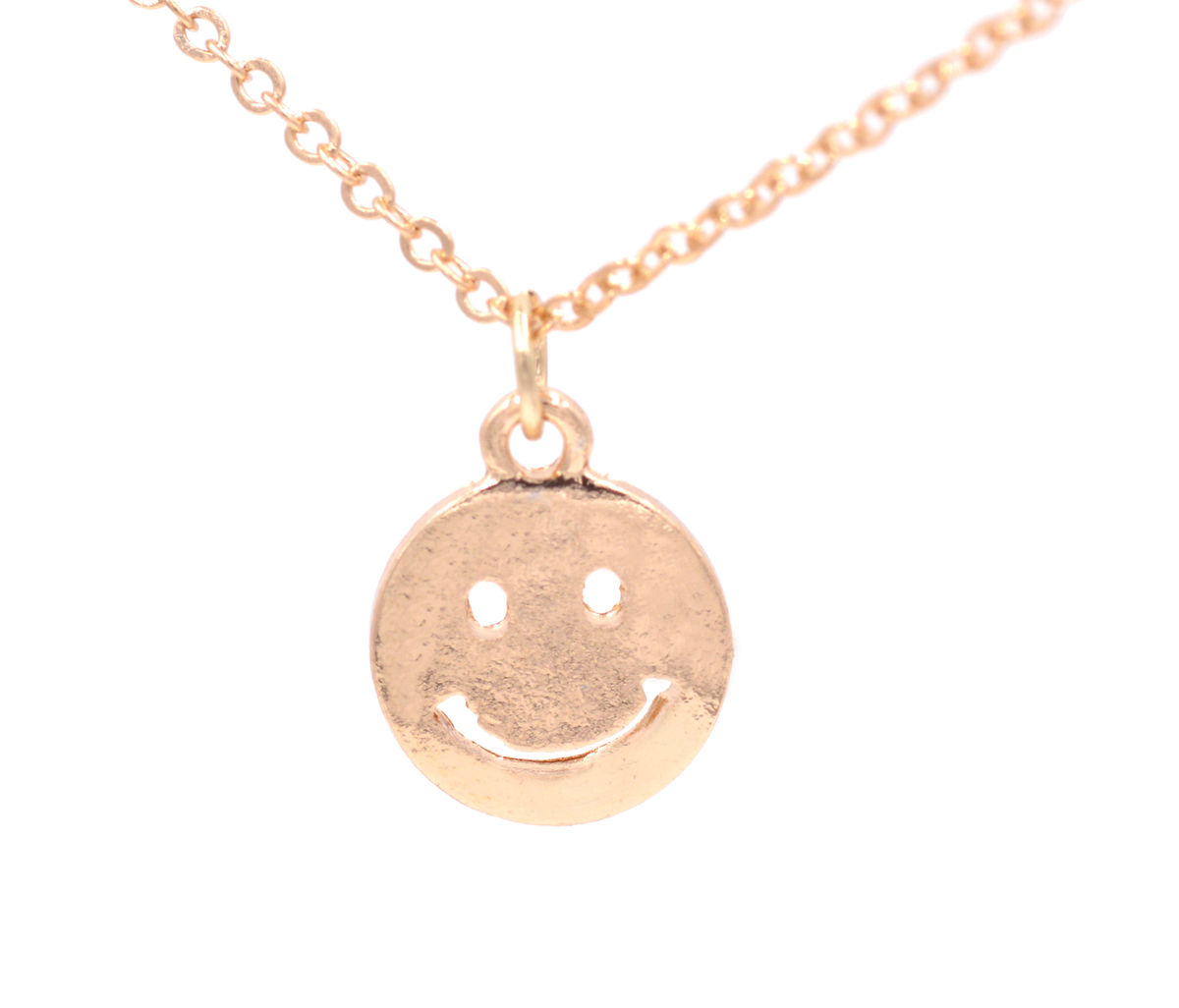 Gold tone little smiley face emoji pendant necklace 18in organza gold tone little smiley face emoji pendant necklace 18in organza bag aloadofball