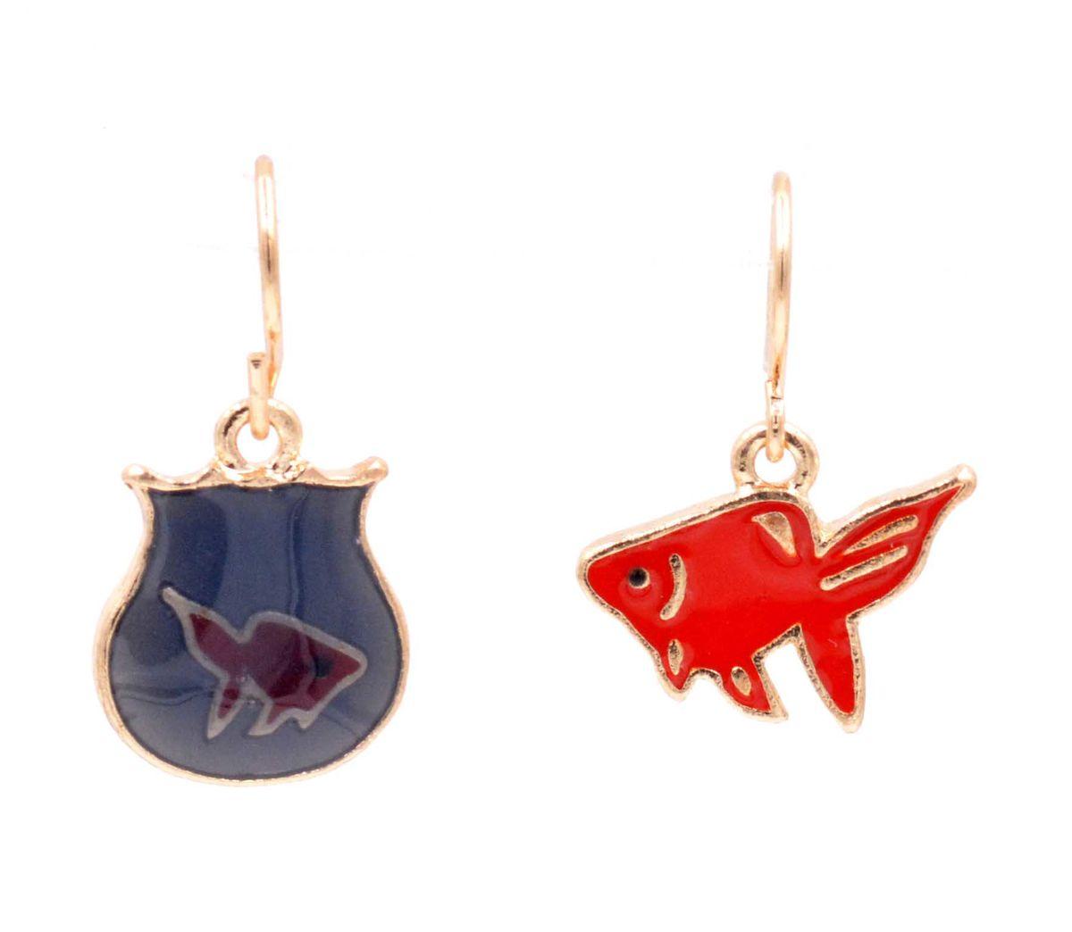 Asymmetric Mismatched Goldfish and Fish Tank Drop Hook