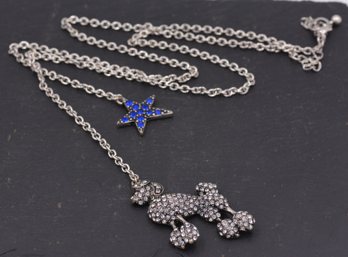 in listing star necklace available solid north il blue pendant