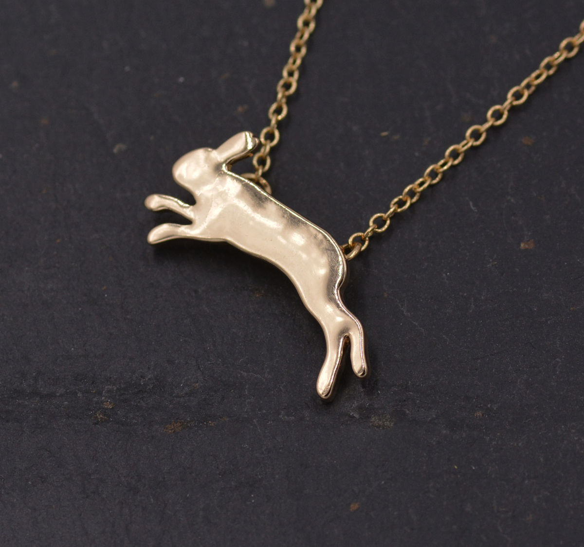Gold plated leaping hare rabbit bunny pendant necklace fun cute gold plated leaping hare rabbit bunny pendant necklace fun cute and quirky jewellery aloadofball Choice Image