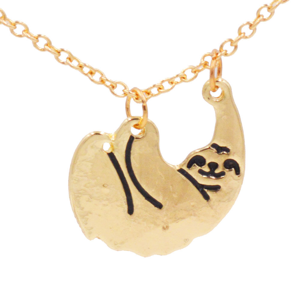 the products blue pendant of sloth out necklace