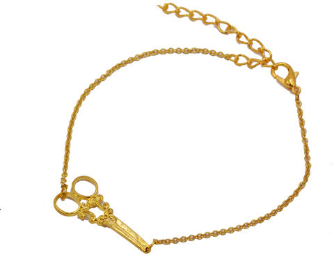 18ct,Gold,Plated,Horizontal,Scissors,Bracelet,-,Cute,Fun,and,Quirky,Design,in,an,organza,bag,18ct Gold Plated Horizontal Scissors Bracelet - Cute Fun and Quirky Design - in an organza bags