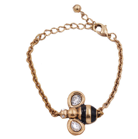 Antique,Gold,Tone,Little,Bumble,Bee,Bracelet,-,Stressed,Effect,Cute,,Fun,and,Quirky,Design,Jewellery,Delivered,in,organza,bags.,Antique Gold Tone Little Bumble Bee Bracelet  - Stressed Effect - Cute, Fun and Quirky Design Jewellery -  Delivered in organza bags.